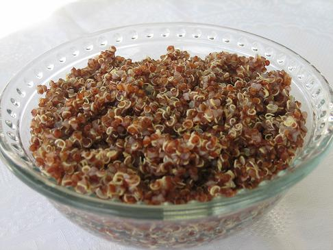 red quinoa cooked tail