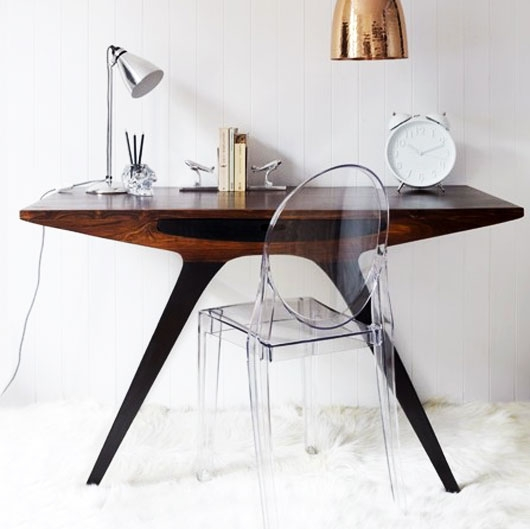 wood writing table modern
