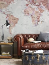 Design Inspiration – World Map Wallpaper